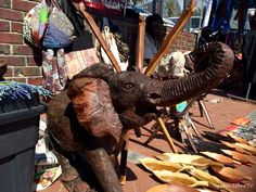 This elephant is a fabulous statement piece... Now all I need is the home! Found on road side of Victoria Road, Camps Bay
