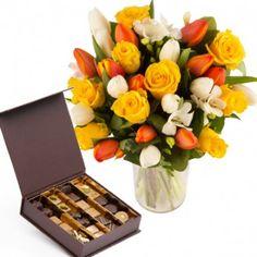 Livraison fleurs chocolat - 48,50€