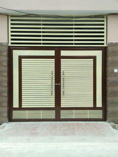 Iron Main Gate Design, Wrought Iron Gate Designs, Grill Gate Design, Window Grill Design Modern, House Main Gates Design, Steel Gate Design, Front Gate Design, Double Door Design, Door Gate Design