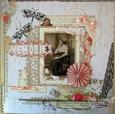 A Passion For Cards: Memories - Tonic studios scrapbook page