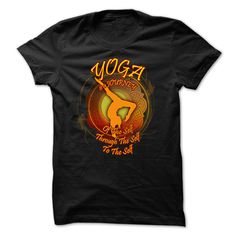 Tee with Inscription - Yoga t-shirt - Yoga is a journey