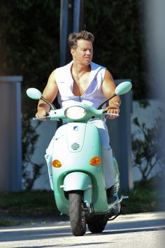 Mark Wahlberg & Vespa in Miami