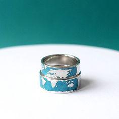 #unison_картамира #unison_море Бирюзовая водичка, когда на небе ни облачка!  Очень красивые кольца с эмалью. Материки окруженные океаном🌍  Серебро.  Стоимость 25 тыс за пару.  Заказы на эти кольца принимаю на июль и далее.  #вашличныйювелир #токаревстанислав
