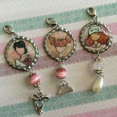 Bottle Cap Charms created by Bona Rivera-Tran.