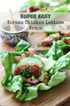 Easy and quick 30 minute chicken lettuce wraps with chicken and veggies   littlebroken.com @littlebroken