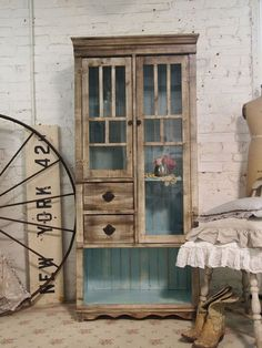 painted cottage has really cool vintage and handmade furniture. love this two-toned cabinet.