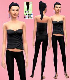 Leather/Latex Pants at Simista via Sims 4 Updates