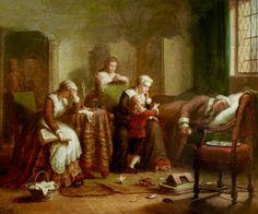 Luis XVI ,Maria Antonieta sus dos hijos y Madame Elisabeth  en la Prision del Temple