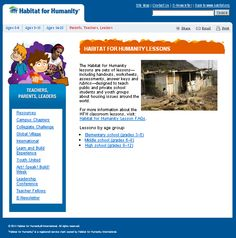 Humanity has newly created lesson plans, activities, and other resources on their website that help teach students about housing issues around the world.