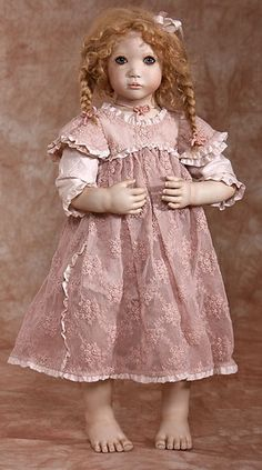 Annette Himstedt Vinyl Dolls, Porcelain Dolls & Artist's Proof at The Toy Shoppe Annette Himstedt, Vinyl Dolls, Antique Dolls, Aurora Sleeping Beauty, Flower Girl Dresses, Disney Princess, Wedding Dresses, Artist, Collection