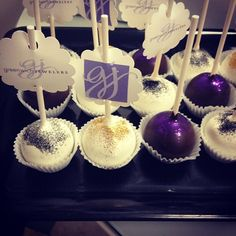 When we have a party, we make sure our guests eat!  Delicious cakepops from #KreatedbyK are our favorite treats.