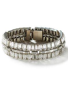 Ben-Amun Crystal Baguette Bracelet
