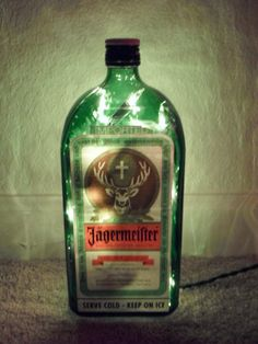 Jagermeister Lighted Bottle Decorative Lamp by SchulersGlassDecor, $17.50