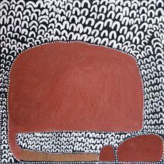 Lena Nyadbi, Dayiwul ngarrangkarni, natural ochre and pigments on canvas, 80 x Aboriginal Painting, Aboriginal Artists, Indigenous Australian Art, Indigenous Art, Kunst Der Aborigines, Sand Painting, Maori Art, Art Plastique, Artist Art