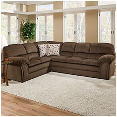 Simmons Bebop 2-Piece Chocolate Sectional