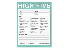 High Five Nifty Note - A Pad for Praise by Knock Knock #KnockKnockStuff