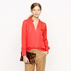 Collection silk georgette blouse -- would be pretty with a trouser for holiday parties.