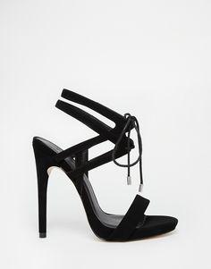 Image 2 ofASOS HONOR Lace Up Heeled Sandals