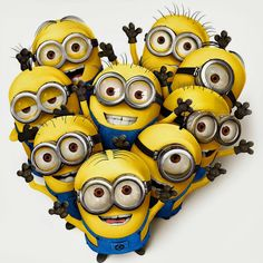 To start, I love, love, LOVE the minions from Despicable Me. I think it's an adorable movie and wanted a minion hat so badly. Amor Minions, Cute Minions, Minions Quotes, Happy Minions, Steve Carell, Minions Despicable Me, My Minion, Minion Banana, Minion Names