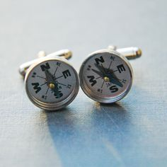 Larissa Loden Jewelry - Navigator Compass Cufflinks, $25.00 (http://www.larissaloden.com/navigator-compass-cufflinks/)