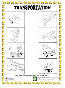 find half of given transportation worksheet
