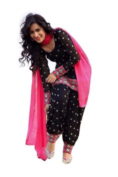 NAKARANI-Womens-Black-Cotton-Patiala-Salwar-Suit Boutique style trouser suits designs collage wear office wear trousers suits for girls Patiala Dress, Patiala Salwar Suits, Punjabi Dress, Pakistani Dresses, Indian Dresses, Indian Outfits, Black Salwar Kameez, Punjabi Girls, Punjabi Fashion