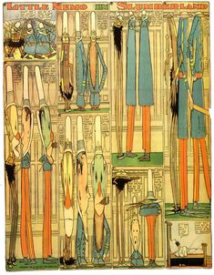 Little Nemo in Slumberland by Winsor McCay (1904-1906). Amazing how this surreal illustration was in the Sunday papers!