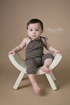 Newborn Photography Prop  Boys Romper Prop  by snugglywunkins