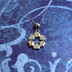 Multi-Hearts Necklace 14k Gold Plated