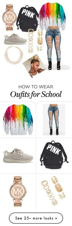 """School"" by indigostyle on Polyvore featuring мода, Michael Kors, adidas Originals, Victoria's Secret, Kate Spade и Forever 21"