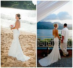 Backless Beach Lace Wedding Dresses Bridal Gown Custom Size 4 6 8 10 12 14 16 18