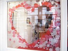valentine's day window paintings