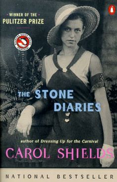 The Stone Diaries by Carol Shields.... a real find!    Carol Shields is a very  famous award winning Canadian author.