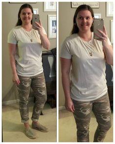 What I Wear: Mom Style #20- LOFT camo jeans & neutral tee