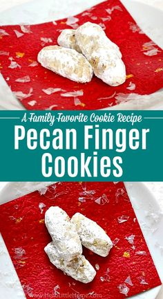 learn how to make this traditional pecan fingers cookie recipes that's been handed down for generations! These classic. Pecan Cookie Recipes, Pecan Cookies, Coconut Cookies, Christmas Cookies, Finger Cookie Recipe, Finger Cookies, Holiday Baking, Christmas Baking, Christmas Time