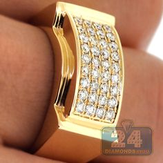 Check our affordable Yellow Gold Carat Genuine Round-Cut Diamond Pinky Ring for Men. Mens Gold Rings, Gold Diamond Rings, Rings For Men, Silver Ring, Mens Pinky Ring, Gents Ring, Men's Jewelry Rings, Jewellery Uk, Gold Ring Designs