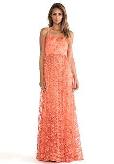 Alice + Olivia Tyler Flowy Maxi Dress in Orange | REVOLVE
