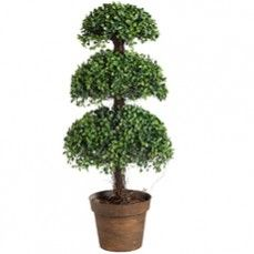 Boxwood Topiary - Triple Ball @ http://www.antiquefarmhouse.com/current-sale-events/playful-accents.html
