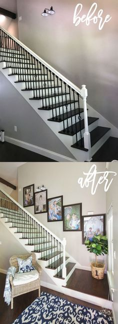to Create a Stairway Picture Wall How to Create a Stairway Picture Wall with Better Homes & Gardens poster frames.How to Create a Stairway Picture Wall with Better Homes & Gardens poster frames. Stairway Picture Wall, Stairway Pictures, Stairway Gallery Wall, Picture Walls, Gallery Walls, Stairway Decorating, Decorating Your Home, Diy Home Decor, Family Pictures On Wall