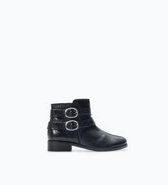 SOFT LEATHER ANKLE BOOTS WITH BUCKLES