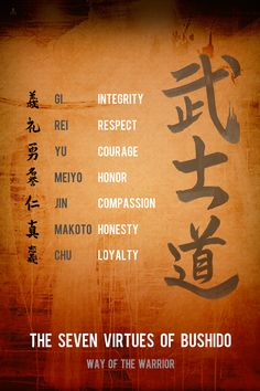 Cv Samurai Poster The Seven Virtues Mens Fashion - Cv Samurai Poster The Seven Virtues Bushido The Way Or The Moral Of The Warrior Is A Japanese Term For The Samurai Way Of Life Loosely Analogous To The Concept Of Chivalry In Europe Wisdom Quotes, Art Quotes, Life Quotes, Inspirational Quotes, Jealousy Quotes, Samurai Tattoo, Samurai Art, Ronin Tattoo, Ronin Samurai