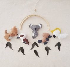 Custom made Australian Animals nursery mobile // baby gift // nursery decor // baby shower - Parenting