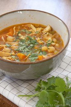 Inspired by Joey& and the spices of Morocco, this Moroccan chicken soup has a combination of chickpeas, chicken and carrots for a healthy, flavourful soup. Chicken Chickpea, Vegetarian Chicken, Chicken Soup Recipes, Chicken Noodle Soups, Recipe Chicken, Healthy Chicken, Moroccan Chicken, Moroccan Soup, Moroccan Dishes