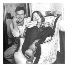 """Harrison Ford and Carrie Fisher………For more classic pictures of the 60's, 70's and 80's please visit and """"LIKE"""" my Facebook page at https://www.facebook.com/pages/Roberts-World/143408802354196"""