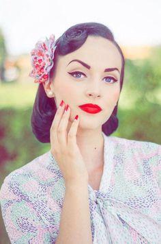 Pin-Up Makeup. Looks, tips and tutorials.
