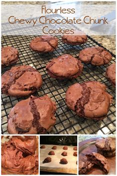 Flourless Gluten Free Chewy Chocolate Chunk Cookies recipe From the Family With Love 12 Days of Baking Day 5