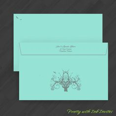 Holiday Dinner or Wedding Invitations - Winter Wonders - (Shown in Grey, Butter Yellow, and Sky Blue)