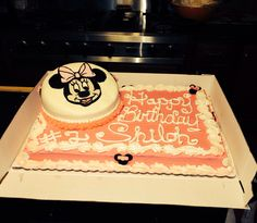 Minnie Mouse cake I made for my grand baby.