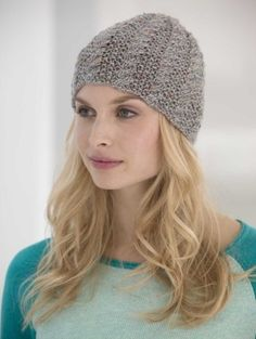 Cabled Tweed Hat - easy and pretty! Free pattern. Brae Tweed from Knit One Crochet Too would look beautiful!