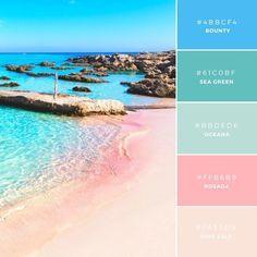 Ocean / Beach color palette with sea green color Build your brand: 20 unique color combinations to inspire you – Canva Colour Pallette, Colour Schemes, Color Combos, Beach Color Schemes, Ocean Color Palette, Summer Colour Palette, Beach Color Palettes, Paint Schemes, Rustic Color Palettes